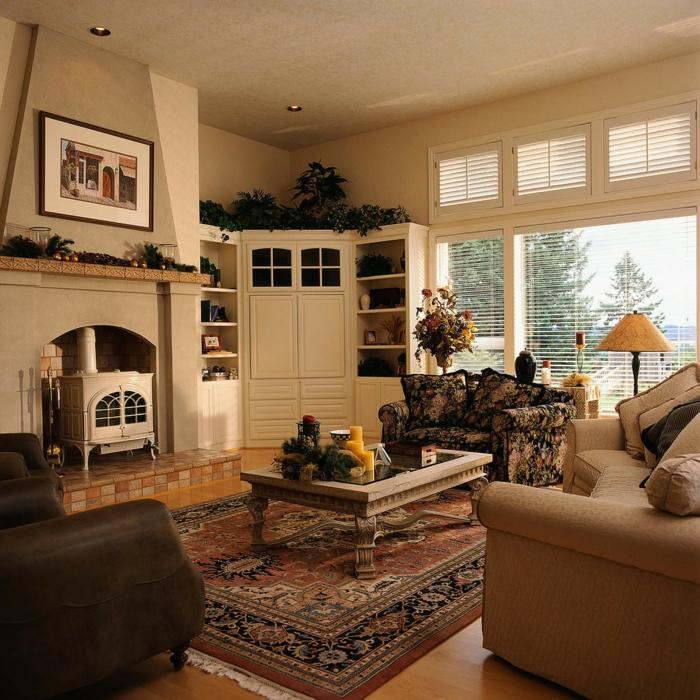 traditionelles wohnzimmer gestalten - dekotipps für wohnzimmer