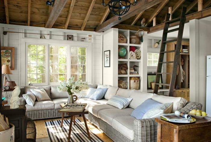 Gem tliches wohnzimmer gestalten 66 bilder - Fenster landhausstil ...