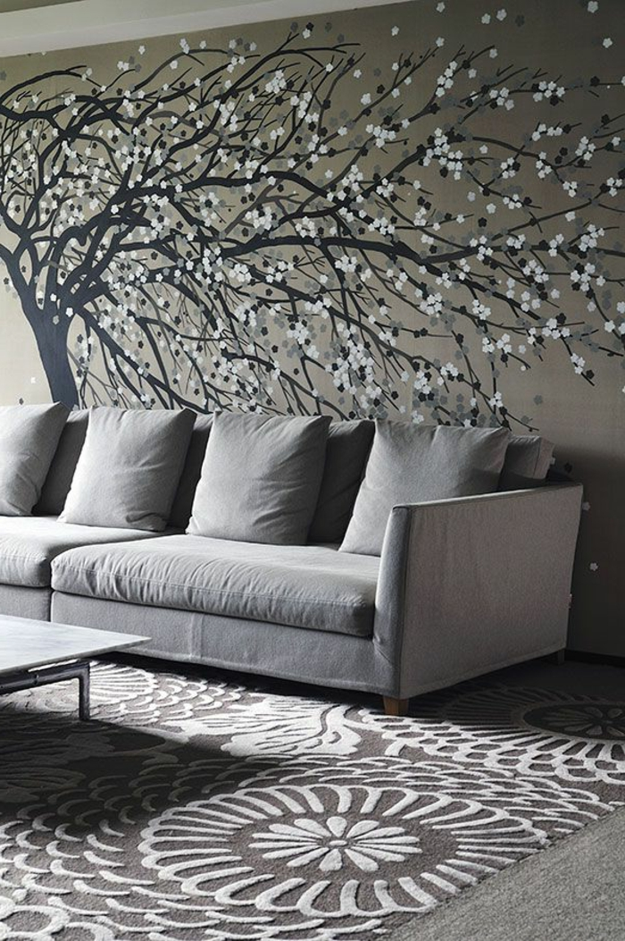 50 wunderschöne Interieur Ideen mit Designer Tapeten