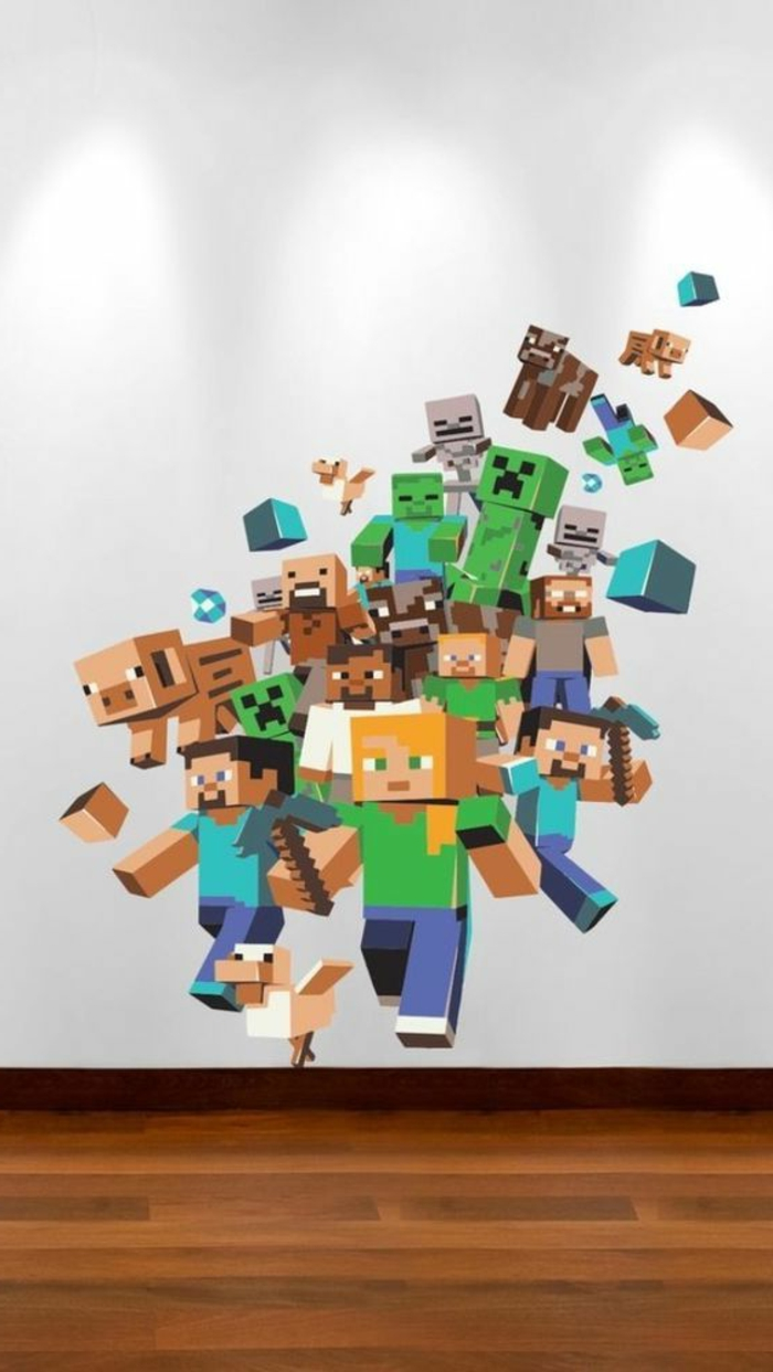 Wandtattoos f r kinderzimmer eine super idee for Minecraft kinderzimmer