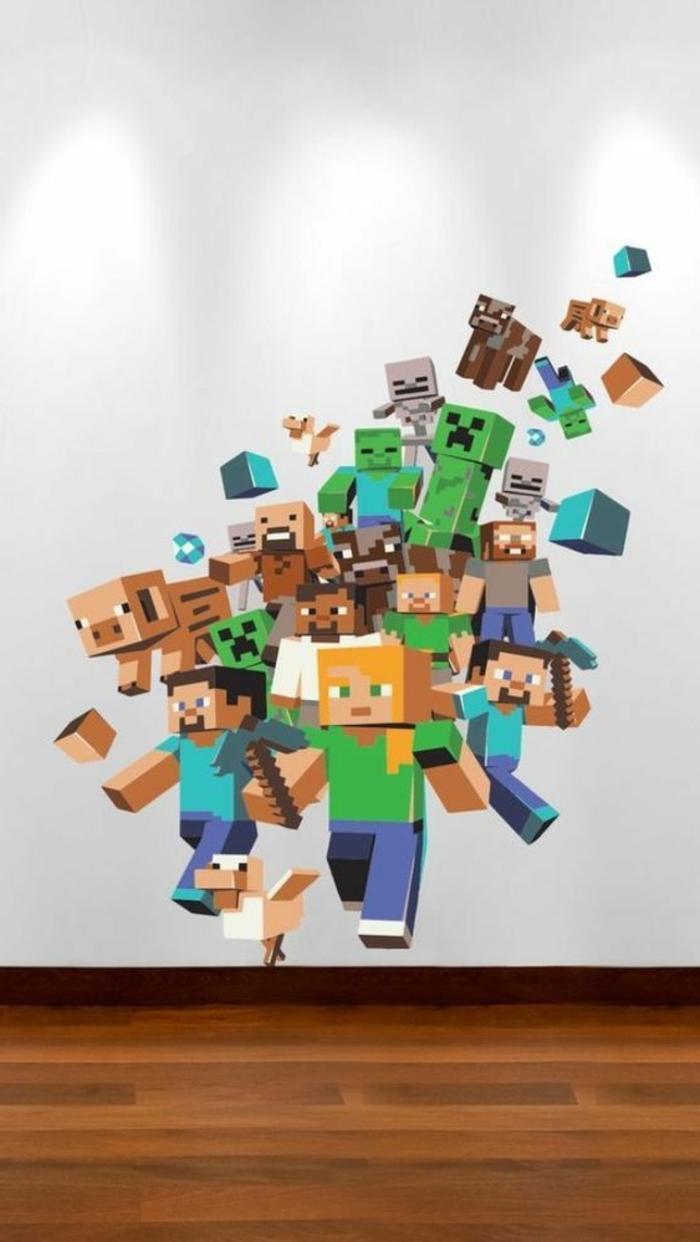 großer-Wandsticker-Minecraft-Helden