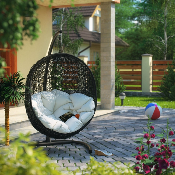 hängesessel-mit-gestell-veranda-rattan-patio-möbel