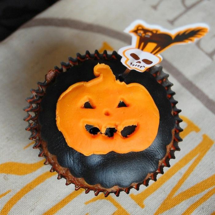 sehr schöne idee für halloween essen - foto von oben genommen