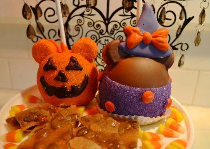 halloween-essen-orange-und-lila-zusammenbringen
