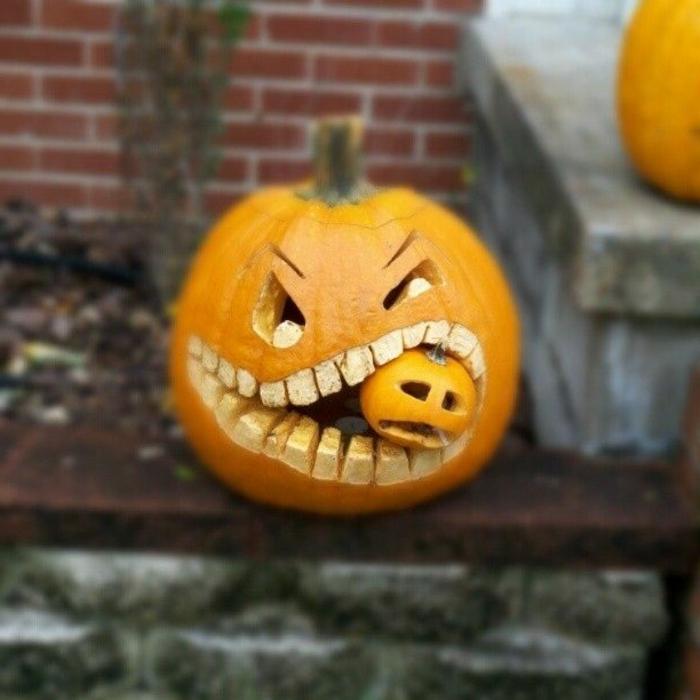halloween-essen-originelles-design-kürbis