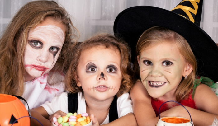halloween-für-kinder-drei-wunderschöne-kinder