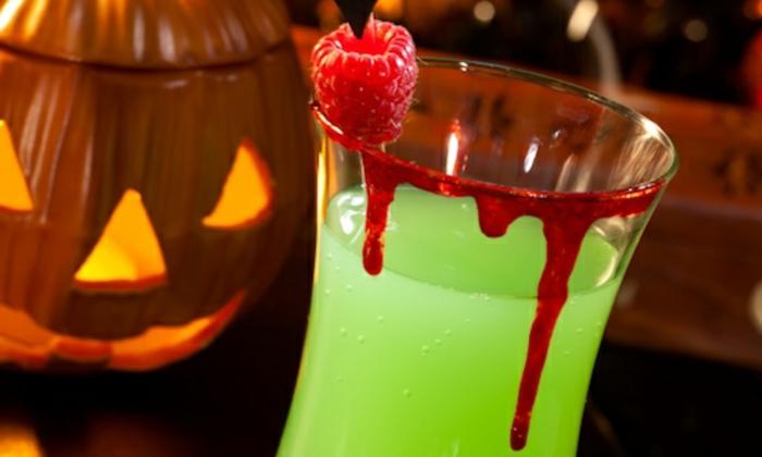 vampir halloween getränke - grüne farbe
