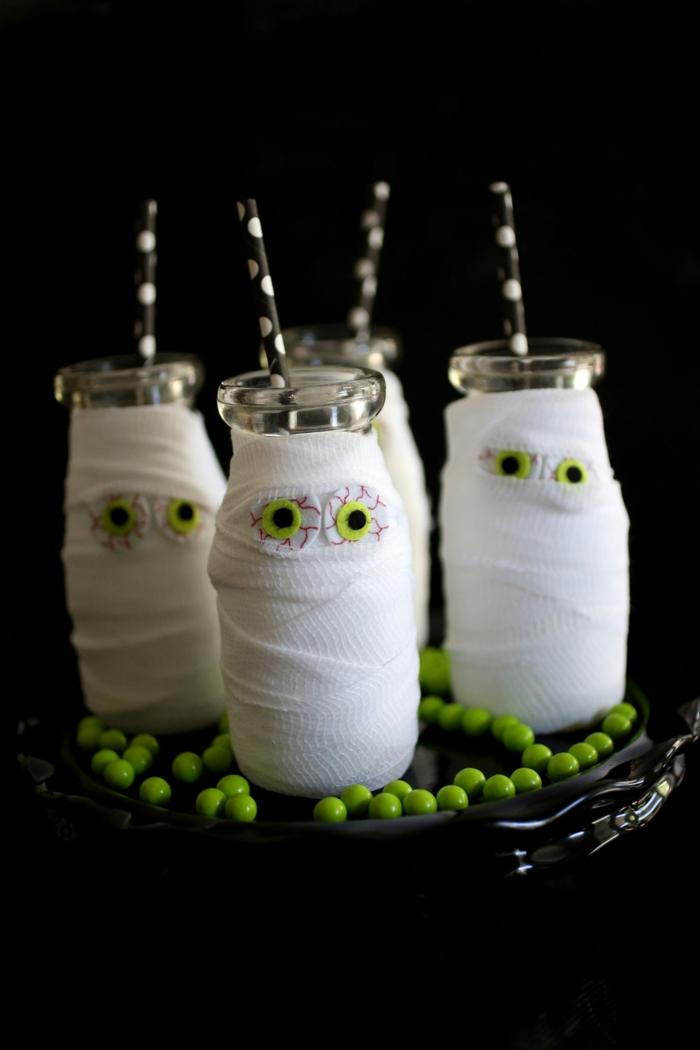 halloween-getränke-super-schöne-flaschen-mumien