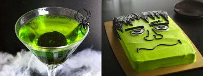 halloween-getränke-zwei-bilder-eine-torte