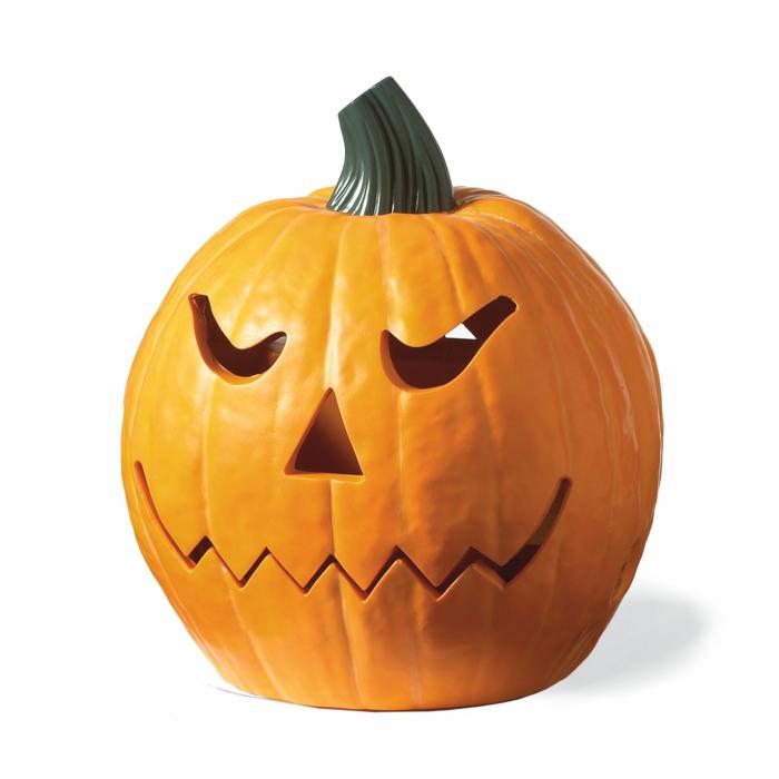 halloween-kürbisse-einfacher-weißer-hintergrund