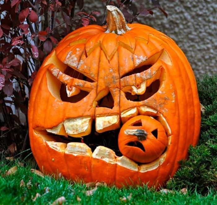 halloween-kürbisse-kreative-dekoration