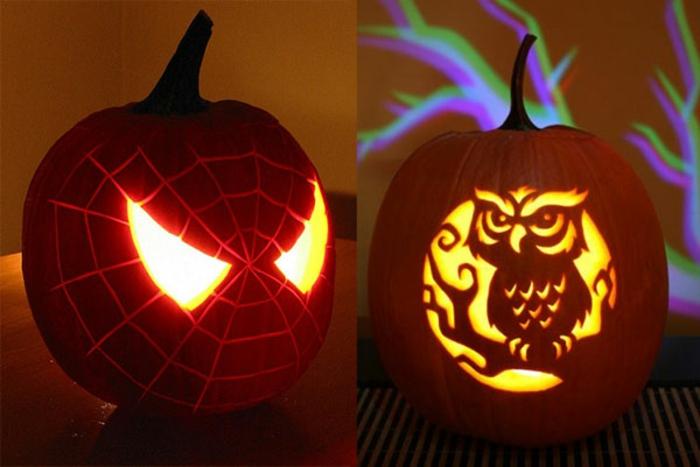 halloween-kürbisse-leuchtende-augen