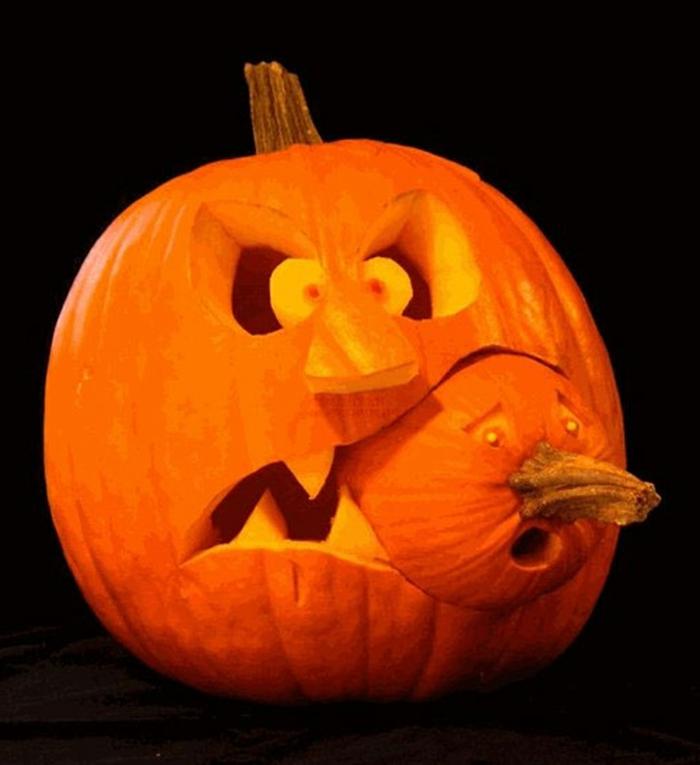 halloween-kürbisse-sehr-auffälliges-modell