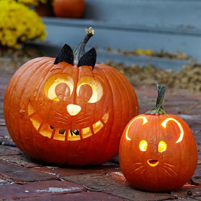 halloween-kürbisse-zwei-lustige-modelle