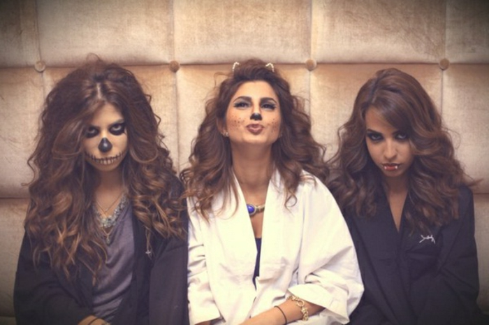 halloween-partnerkostüme-drei-herrliche-damen
