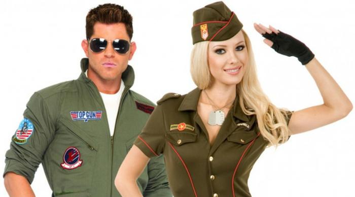 halloween-partnerkostüme-militär-sehr-lustiges-foto