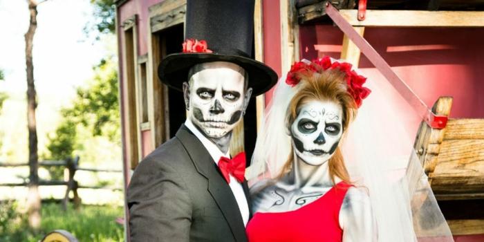 halloween-partnerkostüme-super-tolles-modell-zwei-gerippen-braut-und-bräutigam