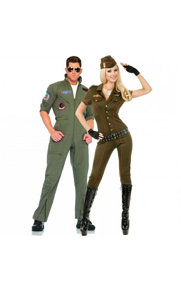 halloween-partnerkostüme-zwei-tolle-soldaten-mann-und-frau
