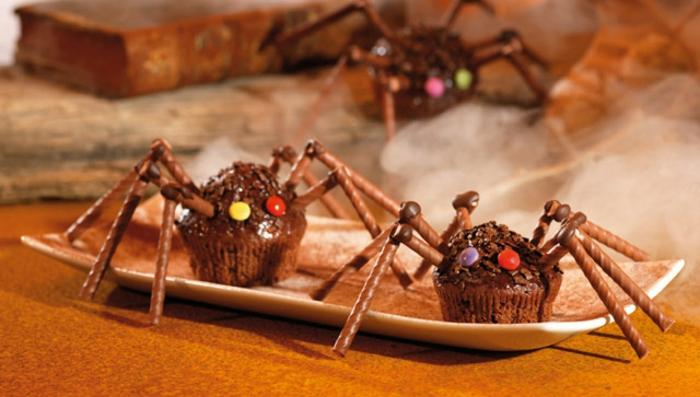 halloween-süßigkeiten-spinne-wafer