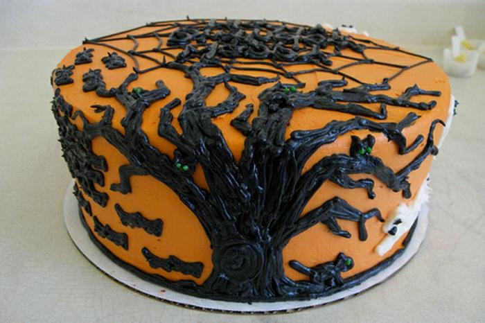 halloween-süßigkeiten-torte-baum-mit-scokolade