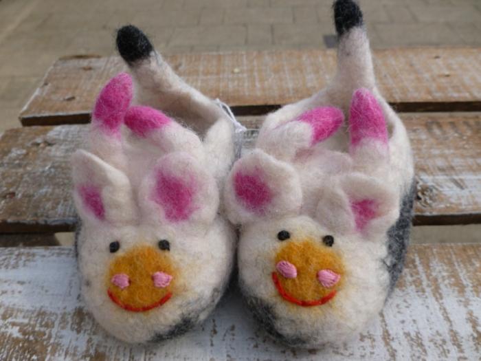 handgemachte-Kinderschuhe-Tier-Muster-lustiges-Modell-Wolle