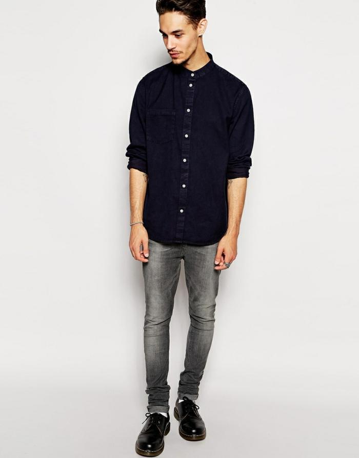 hemd-ohne-kragen-schwarzes-design