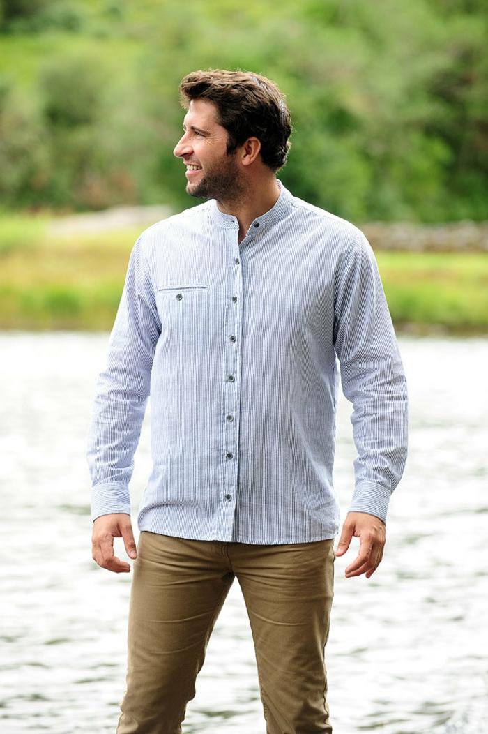 moderne herrenmode hemd ohne kragen archzinenet