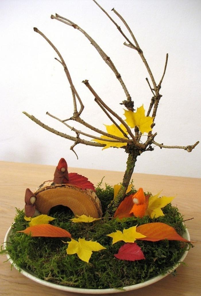 Tischdeko herbst basteln mit kindern  Inspirierende Ideen für Herbstbasteln mit Kindern - Archzine.net