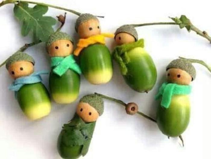 herbstbasteln-mit-kindern-blatt-grün