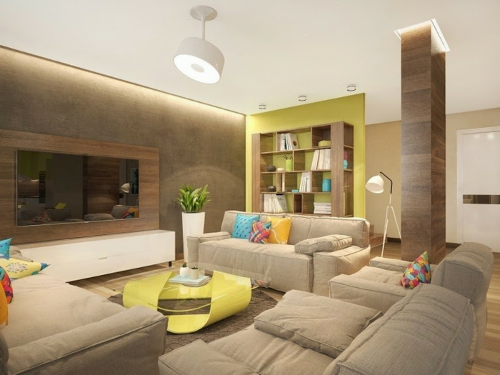 Indirekte Beleuchtung fürs Wohnzimmer: 60 Ideen! - Archzine.net