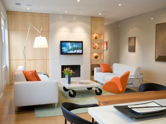 Indirekte Beleuchtung Frs Wohnzimmer Weisses Modell
