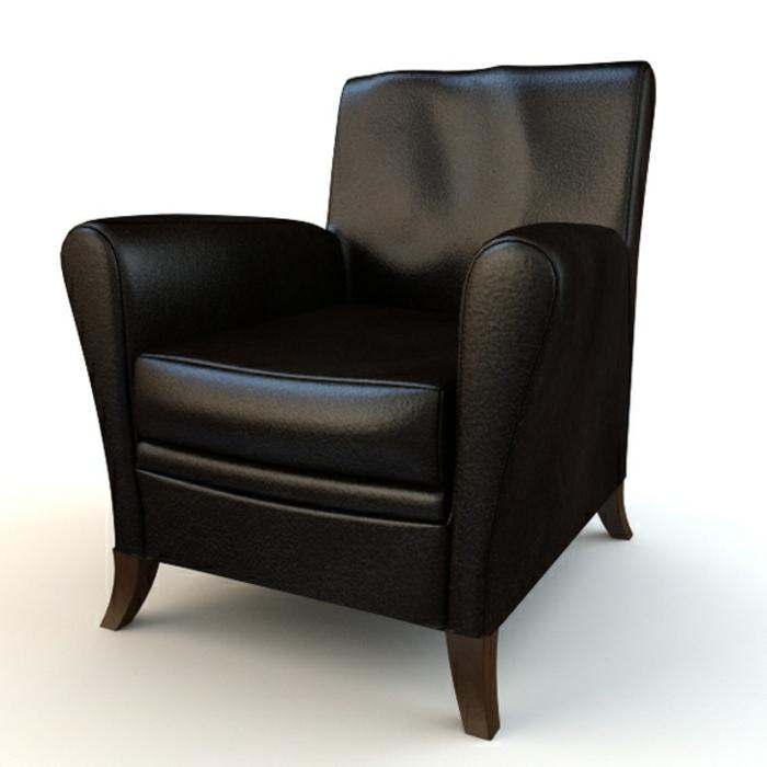 der sessel in schwarz wirkt elegant und schick. Black Bedroom Furniture Sets. Home Design Ideas