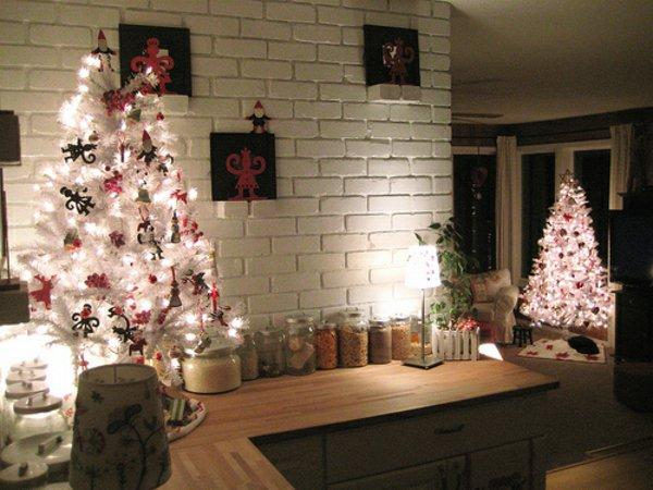 künstliche-tannenbäume-weiss-Schmuck-Weihnachtsdekoration