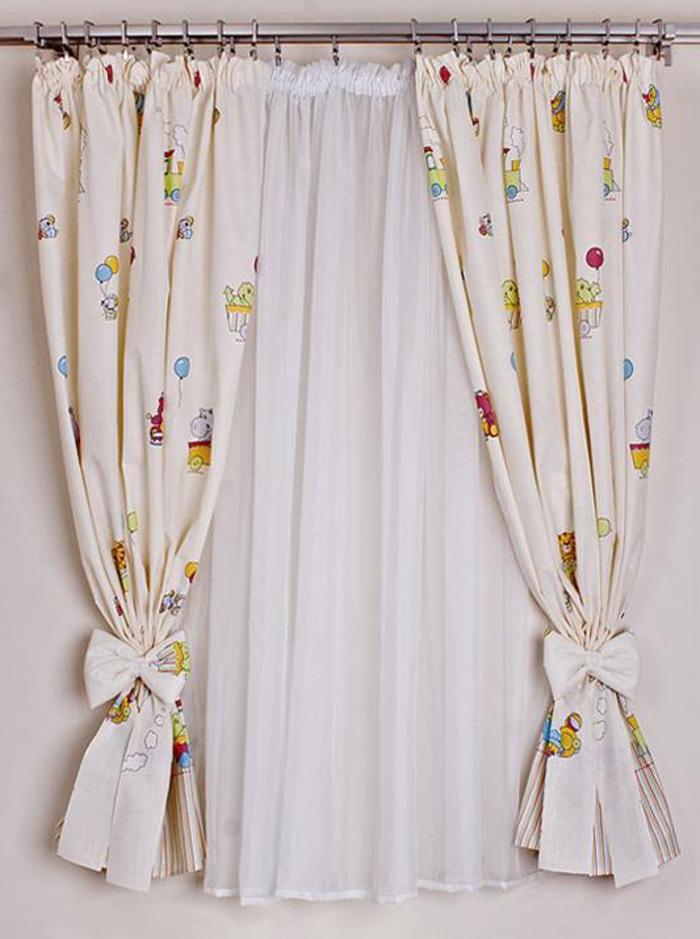 kinder gardinen-babyzimmer-klein-modell