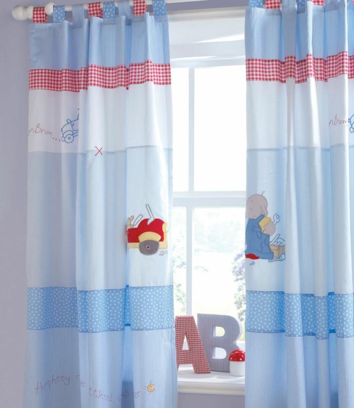 kinder gardinen-für-babyzimmer-in-blau