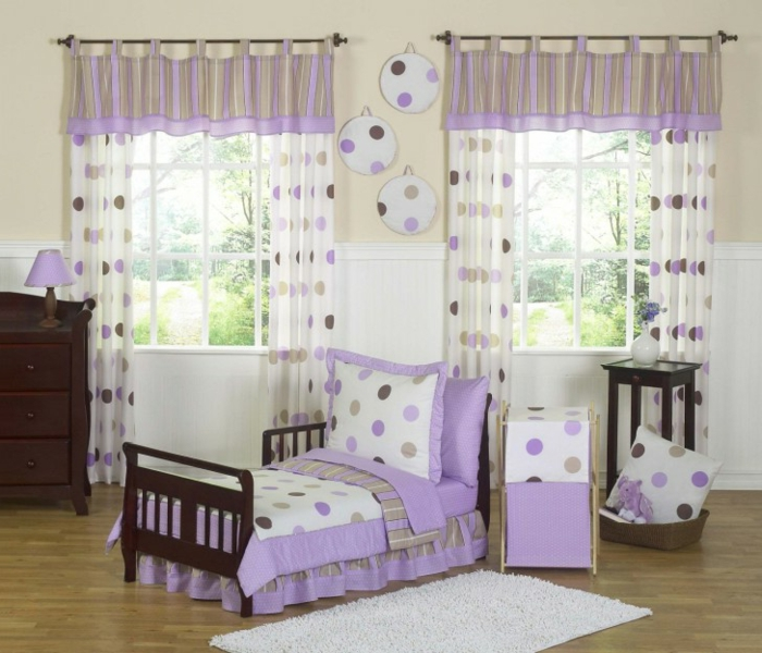 kinderzimmer gardinen lila gardinen 2018. Black Bedroom Furniture Sets. Home Design Ideas