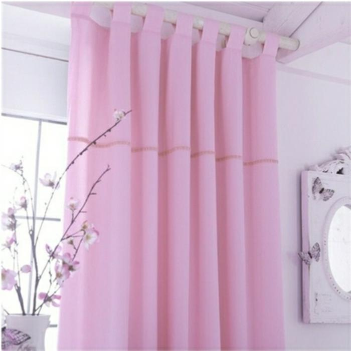 kinder gardinen-satin-in-rosa-für-prinzessinnen