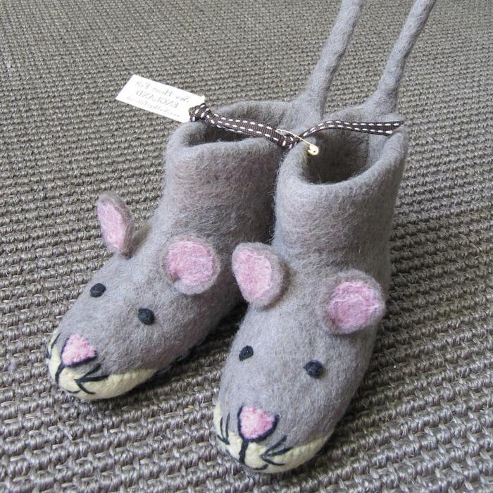 kinderschuhe-Socken-Hausschuhe-Kinder-Mäuser-Muster-süßes-Modell