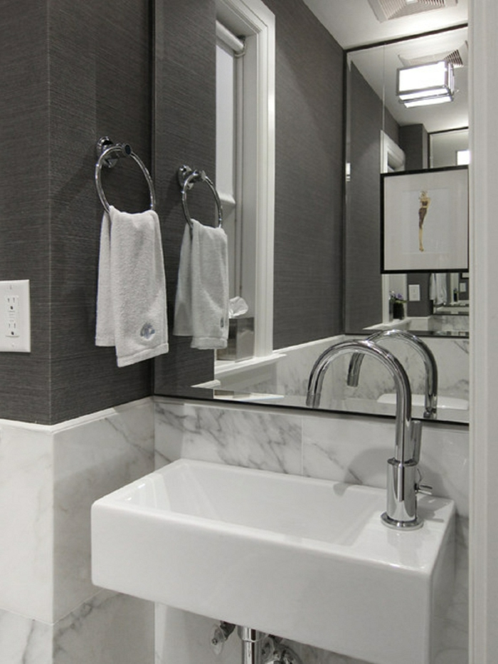 modernes badezimmer - kleines waschbecken