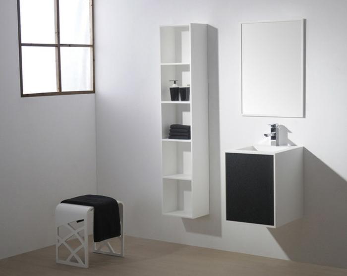minimalistisches badezimmer - kleines waschbecken