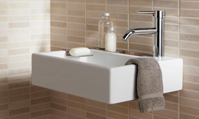 wunderschönes modell kleine waschbecken - weiße ausstattung