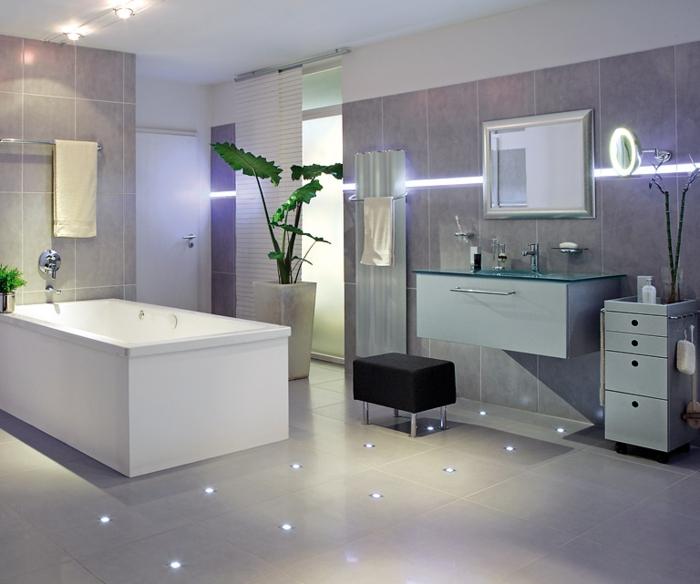 led indirekte beleuchtung für ein exklusives badezimmer - archzine.net - Badezimmer