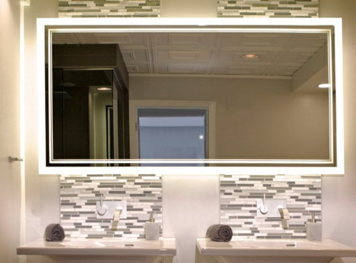 led indirekte beleuchtung fur badezimmer recteckiger spiegel wohnzimmer spiegel mit beleuchtung. Black Bedroom Furniture Sets. Home Design Ideas