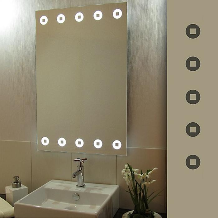 Led indirekte Beleuchtung für Badezimmer Wandspiegel und Waschbecken