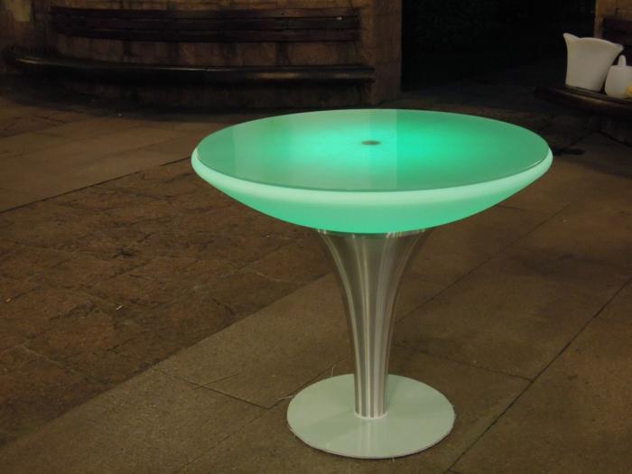 led-tisch-grünes-licht