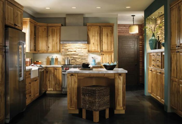 moderne-Küche-hölzerne-Einrichtung-Landhausstil