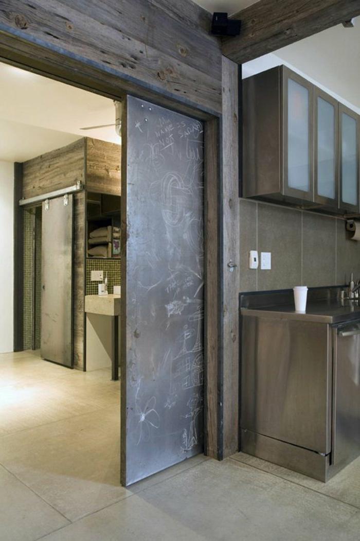 Raumteiler K Che Wohnzimmer die schiebetür ist ihr eingang in die moderne welt archzine