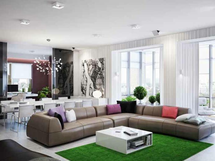 moderne-teppiche-grüne-farbe