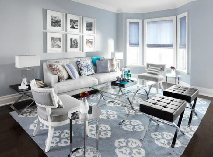 moderne-teppiche-kleines-wohnzimmer