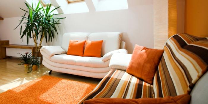 moderne-teppiche-orange-interieur